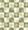 Seamless mosaic tiles pattern in retro style vector image