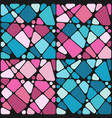 set backgrounds with mosaic hearts vector image vector image