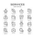 Set line icons of services vector image vector image