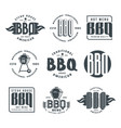 set of barbecue labels and emblems vector image