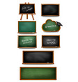 set of chalkboards and schoolboards vector image vector image