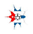 soccer ball on a cuban emblem vector image