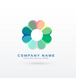 soft flower style logo design concept vector image vector image
