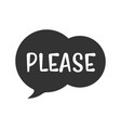 speech bubble with short message icon vector image vector image
