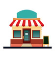 store market business shop building vector image vector image