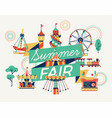summer fair banner or poster template vector image vector image