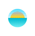 sunrise at sea logo vector image