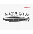 Vintage airship background Retro Dirigible vector image