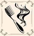 vintage hairbrush vector image vector image