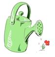 Watering can cartoon icon vector image vector image