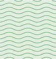 Wavy line green seamless pattern vector image
