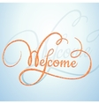 Welcome calligraphic text with a rope texture vector image vector image