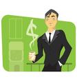 a successful businessman vector image vector image