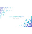 abstract modern triangle business background vector image vector image