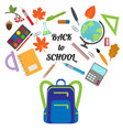 back to school pattern with backpack vector image