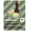board game color isometric poster vector image vector image
