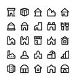 Building Icons 7 vector image vector image