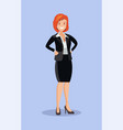 business woman in a suit vector image vector image