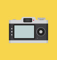 camera flat style front back view vector image