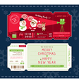 Christmas Party Cartoon Ticket Card Template vector image vector image