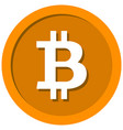 coin with a bitcoin sign vector image vector image