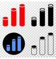 composition of gradiented dotted cylinder chart vector image vector image