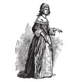 costume about middle 17th century vector image vector image