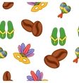 Country Brazil pattern cartoon style vector image vector image