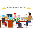 coworking office center vector image