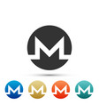 cryptocurrency coin monero xmr icon isolated vector image