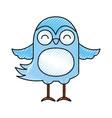 cute scribble bird cartoon vector image