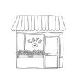 cute street cafe vector image