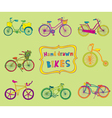 Doodle Bicycles - hand drawn vector image vector image