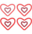 drawings decorative heart shapes from meanders vector image vector image