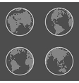 Earth Globe Emblem Icon Set vector image vector image