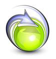 eco button with arrows vector image vector image