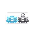 electric traiin thin line stroke icon vector image vector image