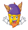 elf pencil pot shape on the cartoon vector image