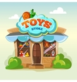 Facade of toy store isolate vector image vector image