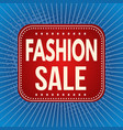 fashion sale banner or label vector image vector image