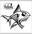 fish skeleton on white vector image vector image