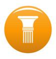 fluted column icon orange vector image vector image