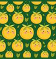 food pattern funny happy cartoon cute oranges vector image vector image