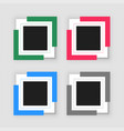four empty infographic frame set vector image vector image