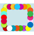 Frame made of color circles vector image vector image
