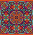 geometric abstract decorated mandala vector image vector image