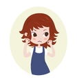 Girl pretending to be a lion Cute horoscope vector image vector image