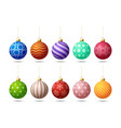 Glossy colorful christmas ornate tree toys or