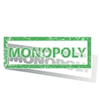 Green outlined MONOPOLY stamp vector image vector image
