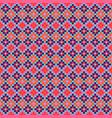 grid navajo geometric seamless pattern pixel art vector image vector image
